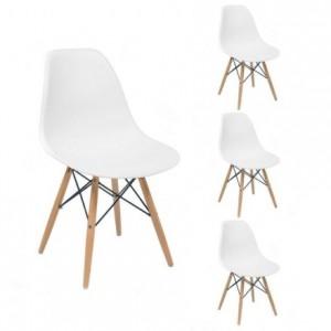 Juego de 4 sillas de comedor MAX, réplica de alta calidad, sillas Tower de Eames